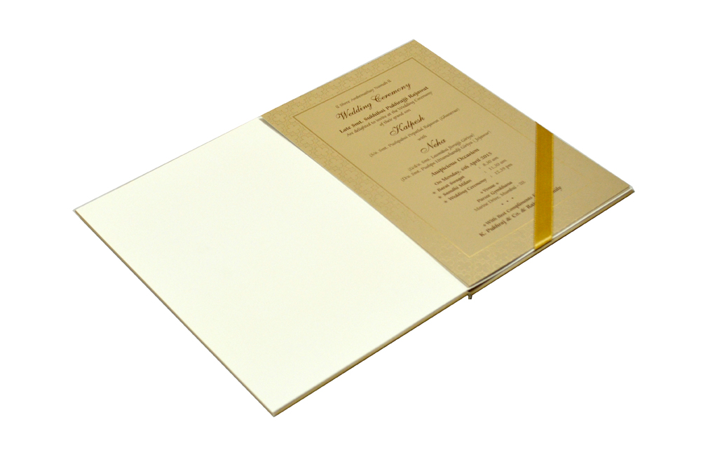 Padded Hindu Wedding Card MCC 6660 Inside View