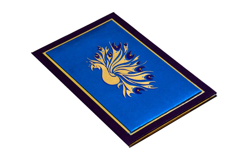 Peacock Theme Padded Wedding Card MCC 6661 Card