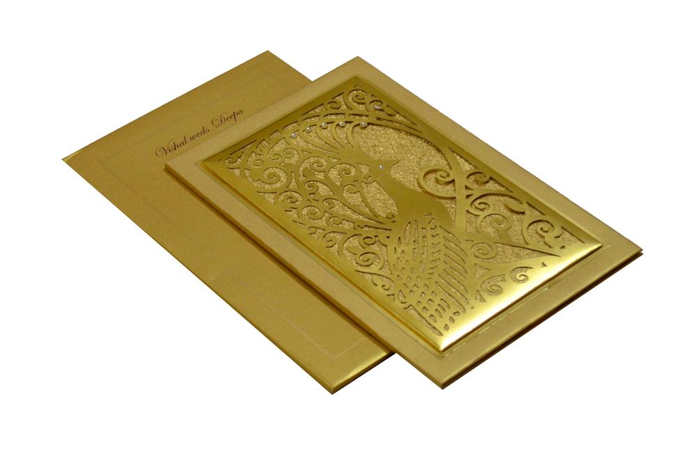 Designer Laser Cut Wedding Card MCC 6662