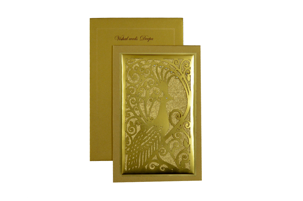 Designer Laser Cut Wedding Card MCC 6662 Top View