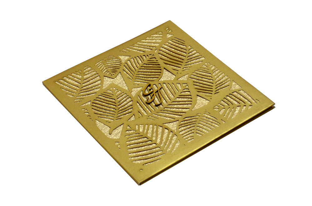 Designer Laser Cut Wedding Card MCC 6664 Card