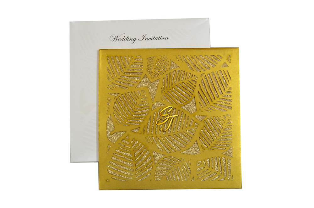 Designer Laser Cut Wedding Card MCC 6664 Top View