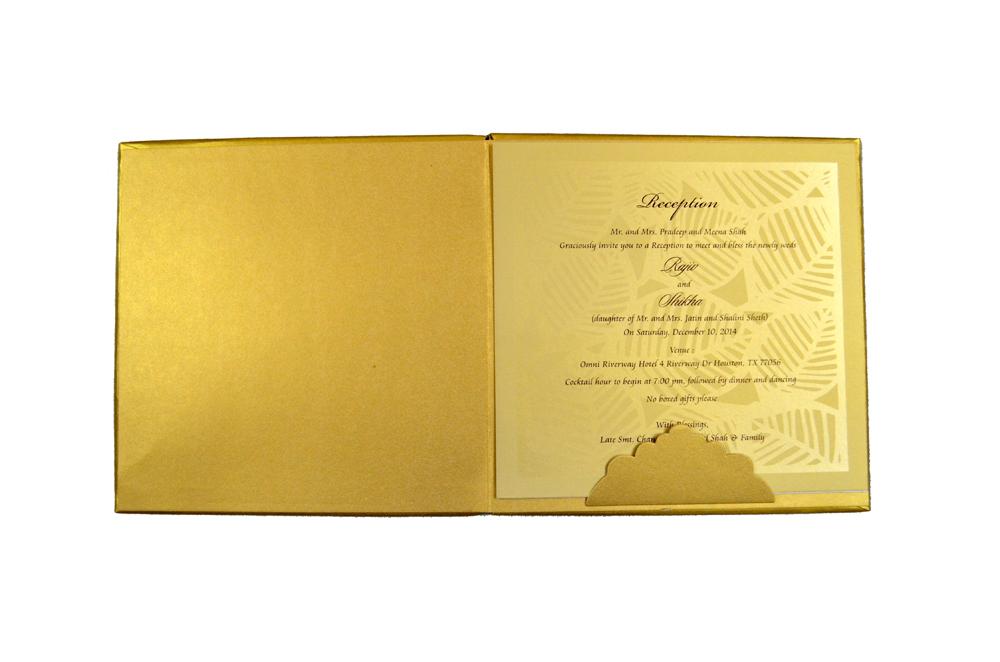 Designer Laser Cut Wedding Card MCC 6664 Top Inside View