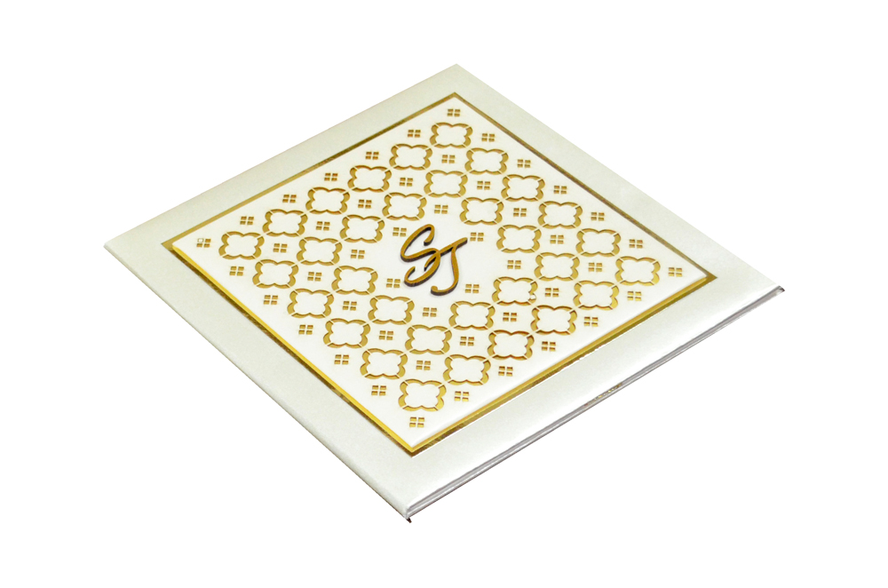 Designer Laser Cut Wedding Card MCC 6665 Card