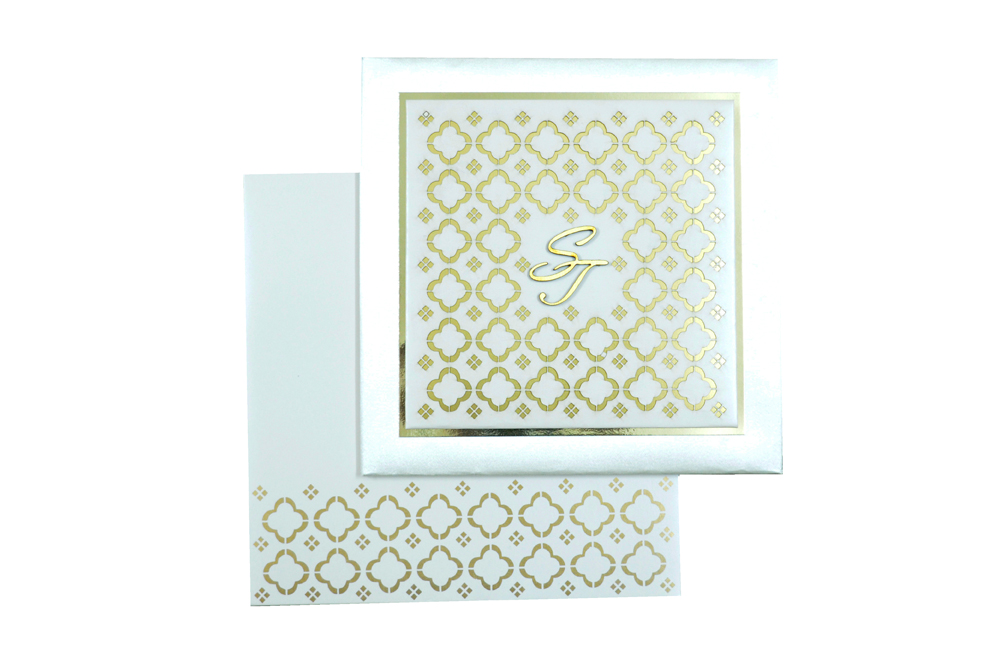Designer Laser Cut Wedding Card MCC 6665 Top View