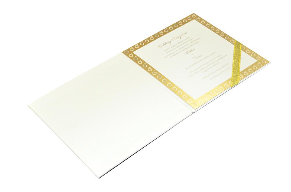 Designer Laser Cut Wedding Card MCC 6665 Inside View