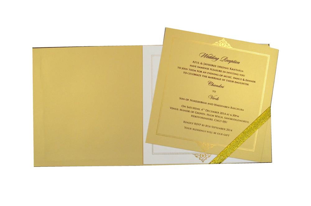 Padded Wedding Card MCC 6666 Top Inside View