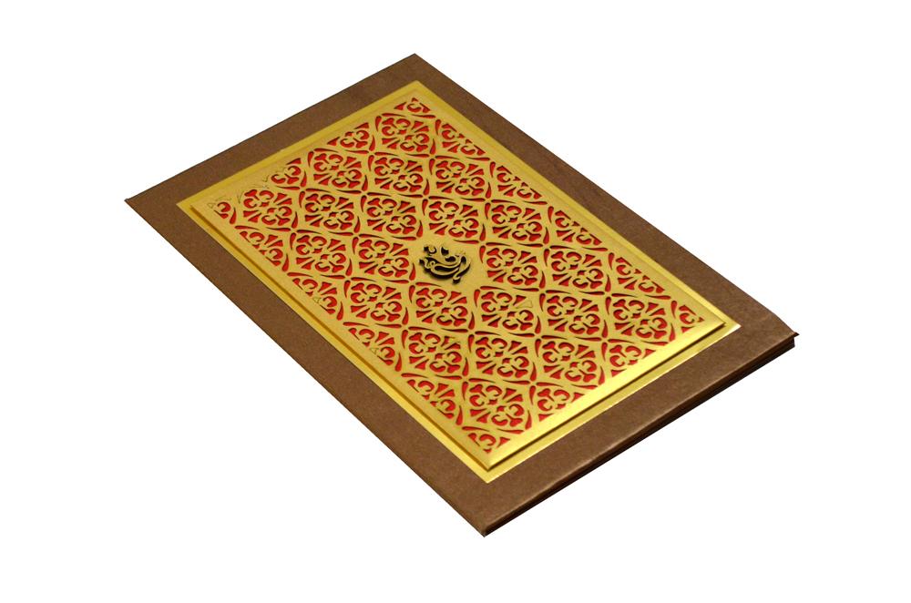 Hindu Laser Cut Wedding Card MCC 6668 Card