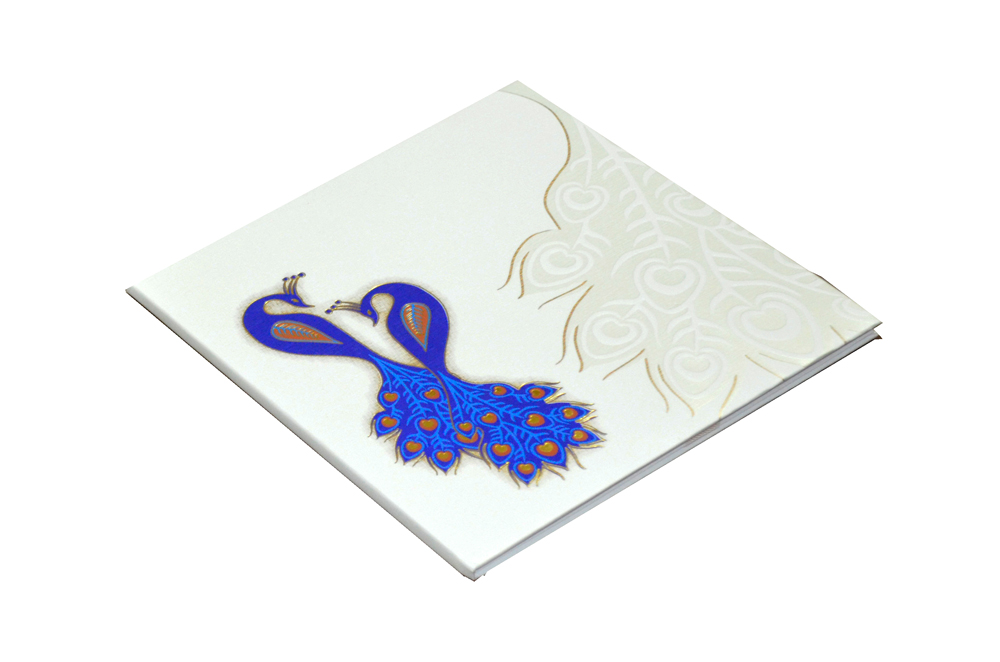 Padded Peacock Theme Wedding Card MCC 6677 Card