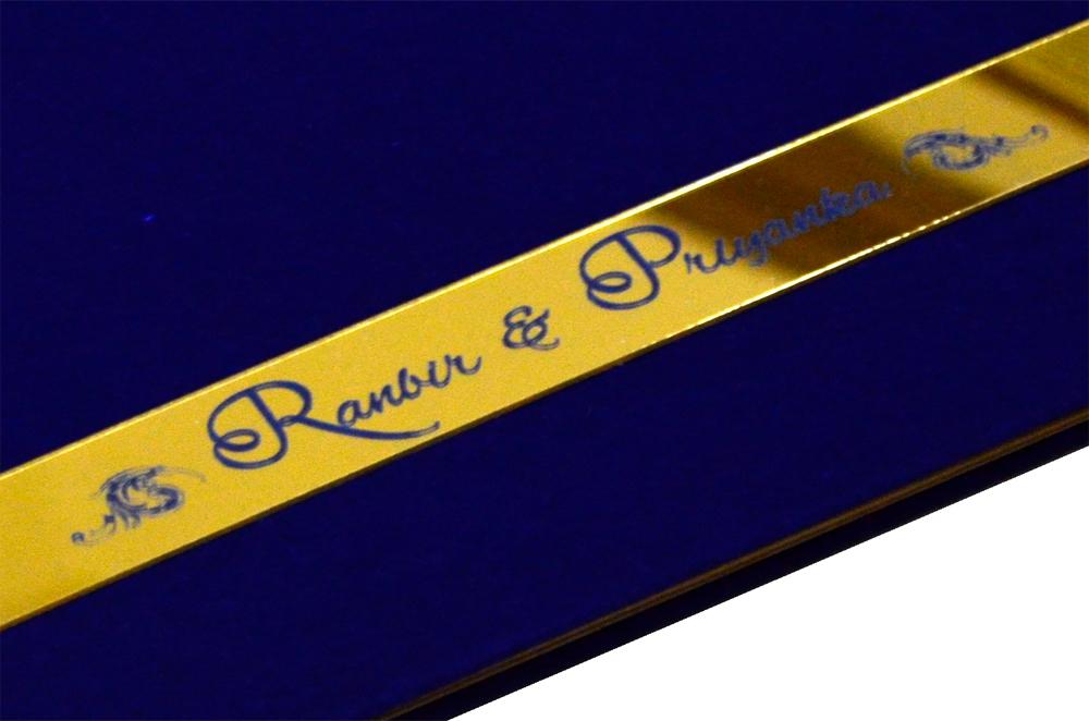 Blue Velvet Designer Card PP 8129 Zoom View