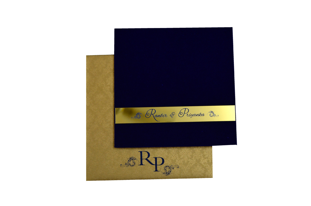 Blue Velvet Designer Card PP 8129 Top View