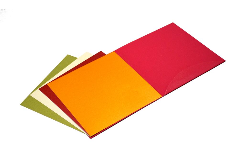 Red Hindu Designer Card PP 8137 Inside View