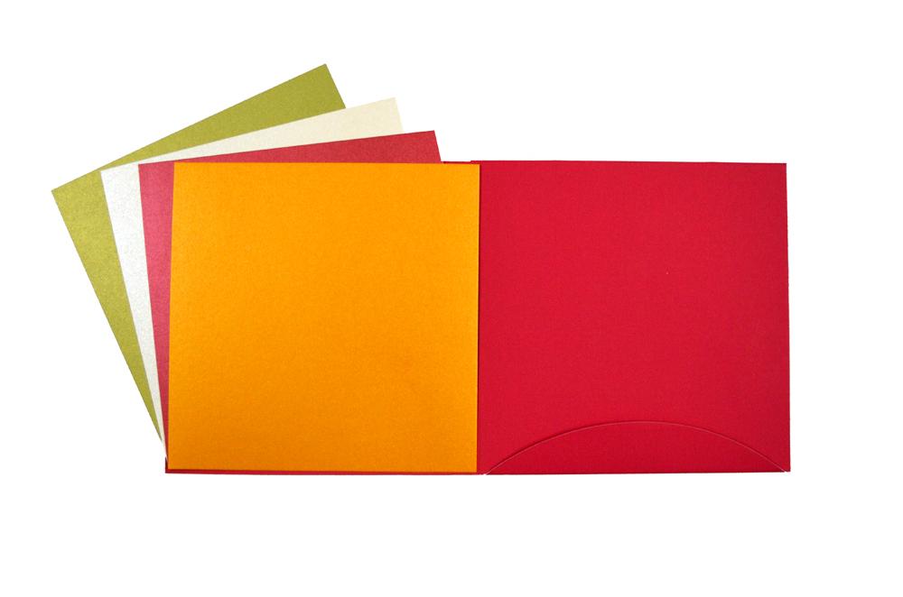 Red Hindu Designer Card PP 8137 Top Inside View