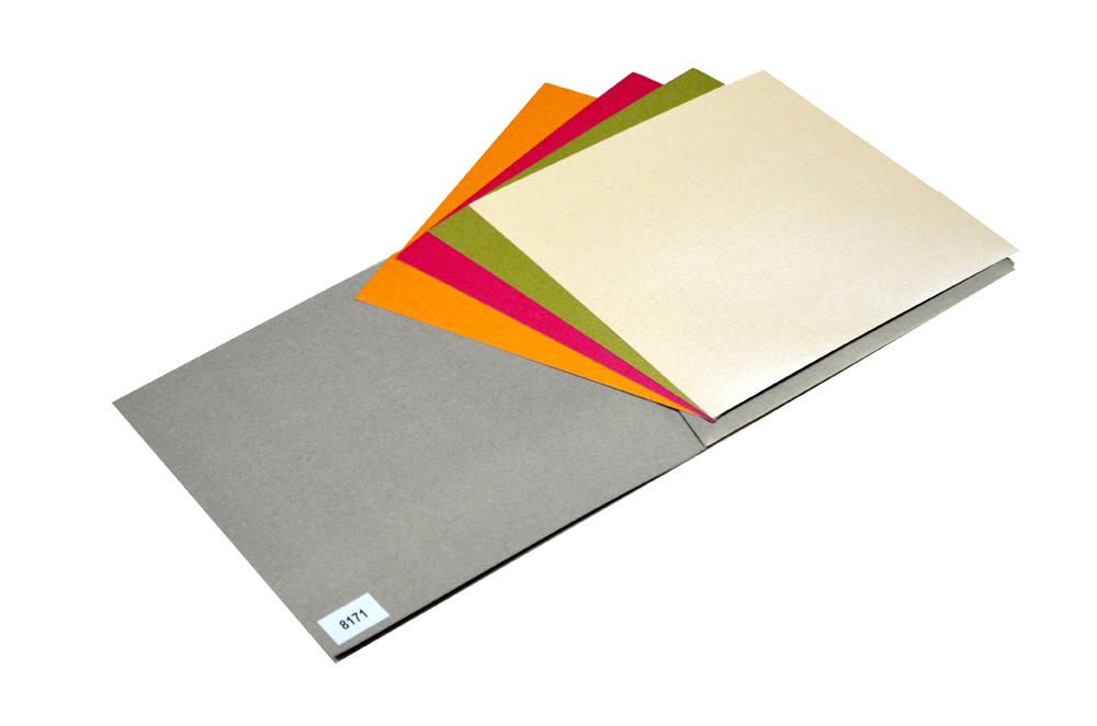 Grey Designer Card PP 8171 Inside View