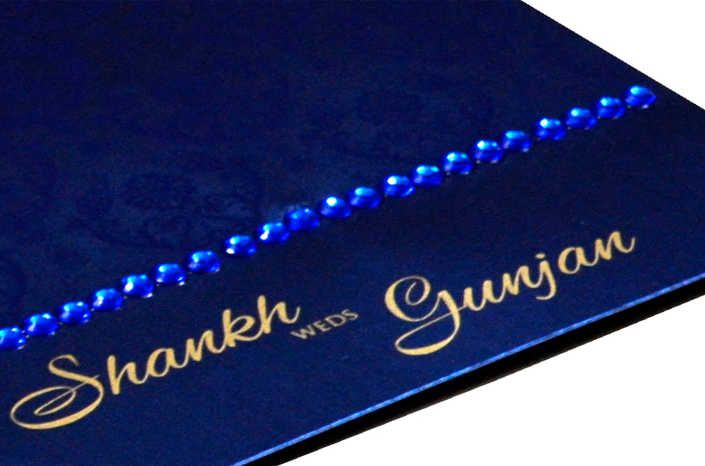Blue Designer Card PP 8172 Zoom View