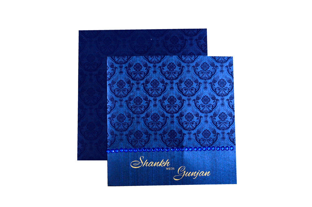Blue Designer Card PP 8172 Top View