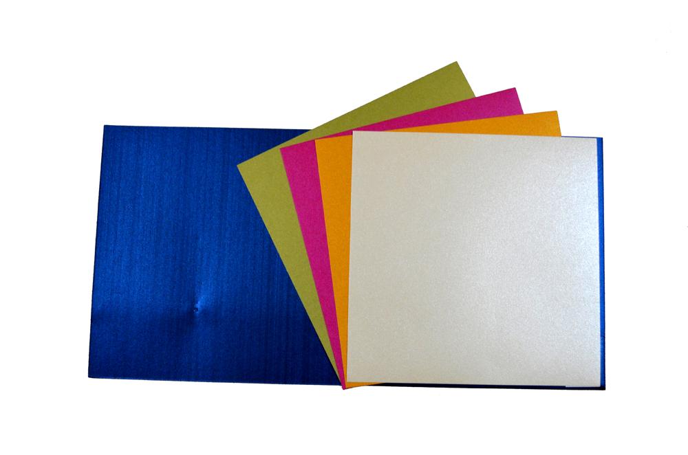 Blue Designer Card PP 8172 Top Inside View
