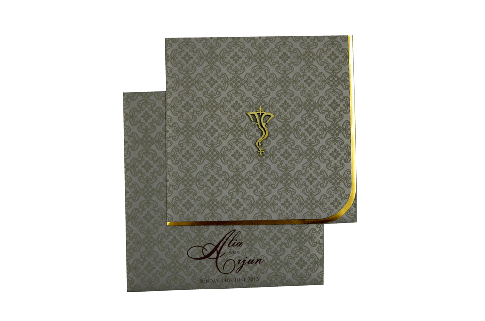 Hindu Wedding Card PP 8179 Top View