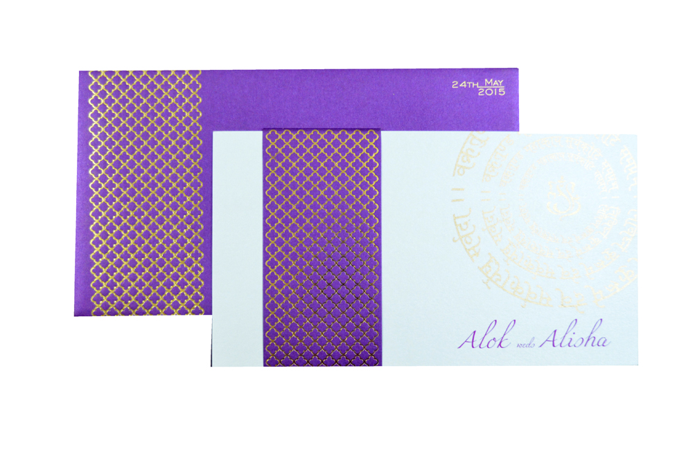 Designer Wedding Card PP 8180 Top View