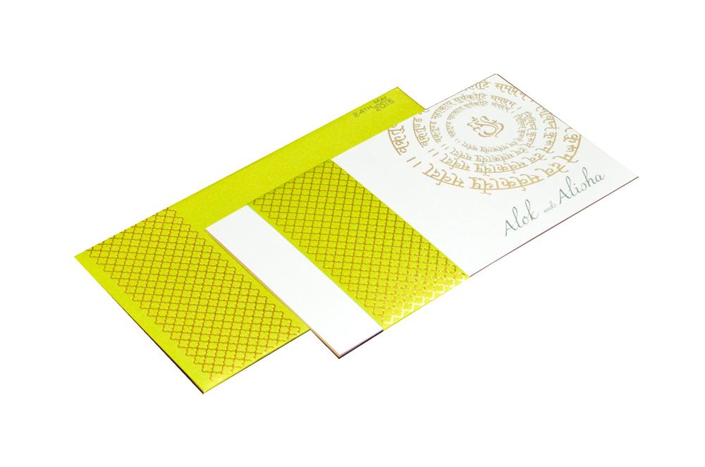 Designer Wedding Card PP 8181