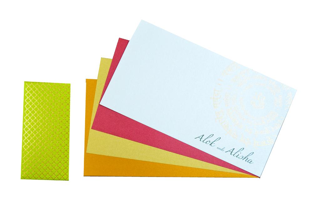 Designer Wedding Card PP 8181 Top Inside View