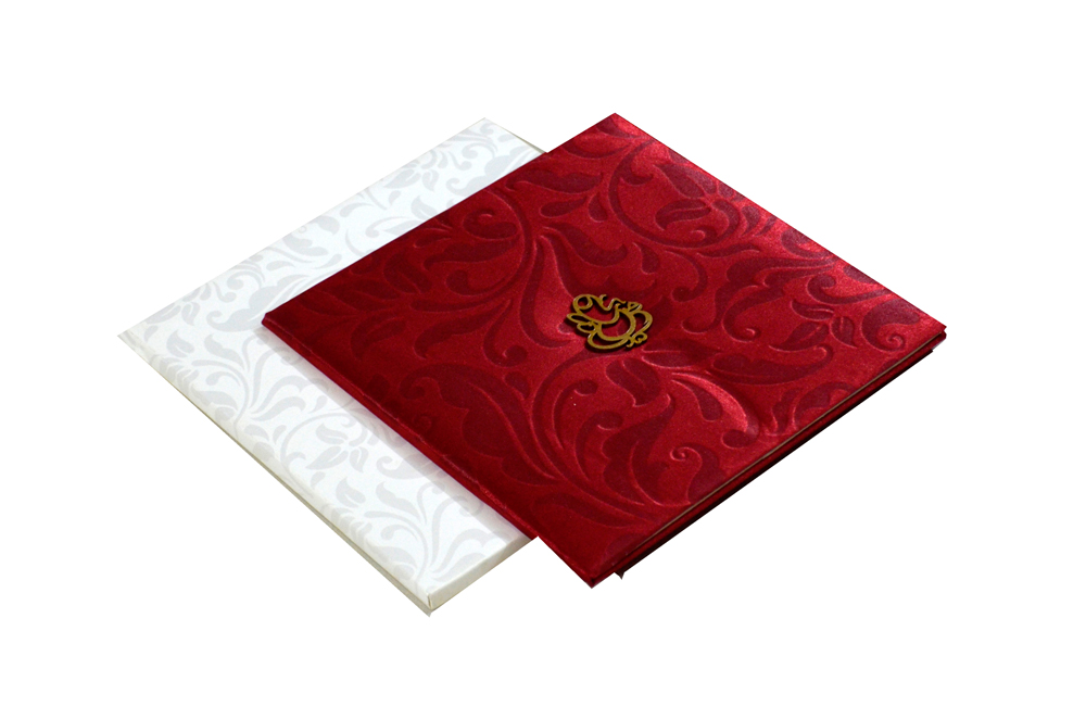 Hindu Satin Cloth Wedding Card PYL 082