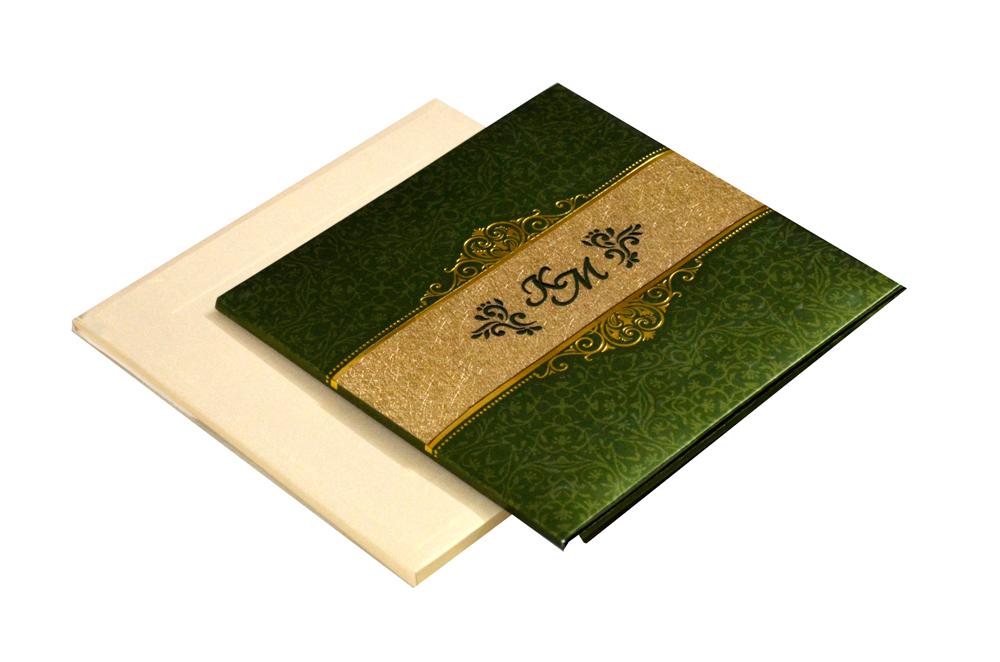 Muslim Wedding Card PYL 127 GREEN