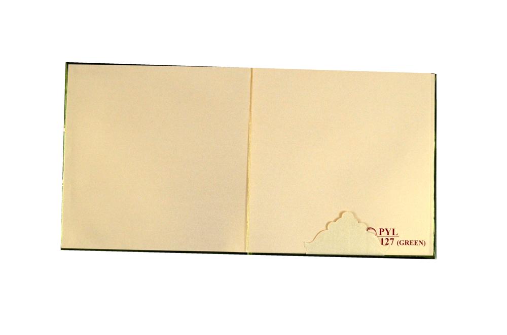 Muslim Wedding Card PYL 127 GREEN Top Inside View