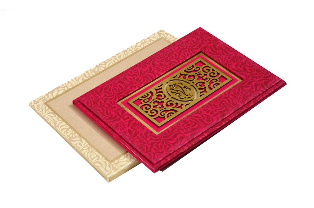 Hindu Laser Cut Wedding Card PYL 146