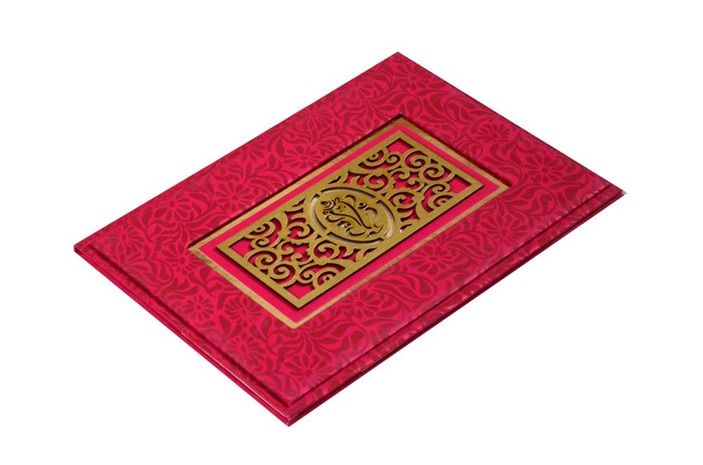 Hindu Laser Cut Wedding Card PYL 146 Card