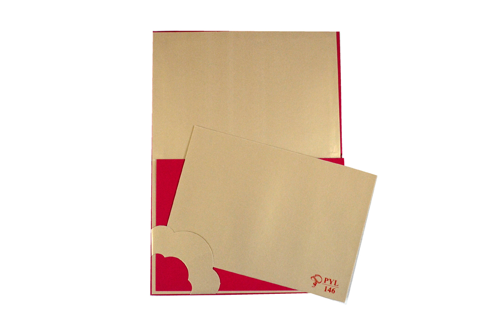 Hindu Laser Cut Wedding Card PYL 146 Top Inside View