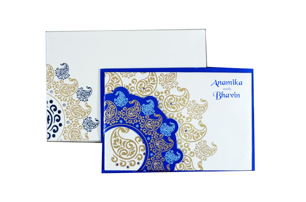 Designer Wedding Card PYL 149 Top View