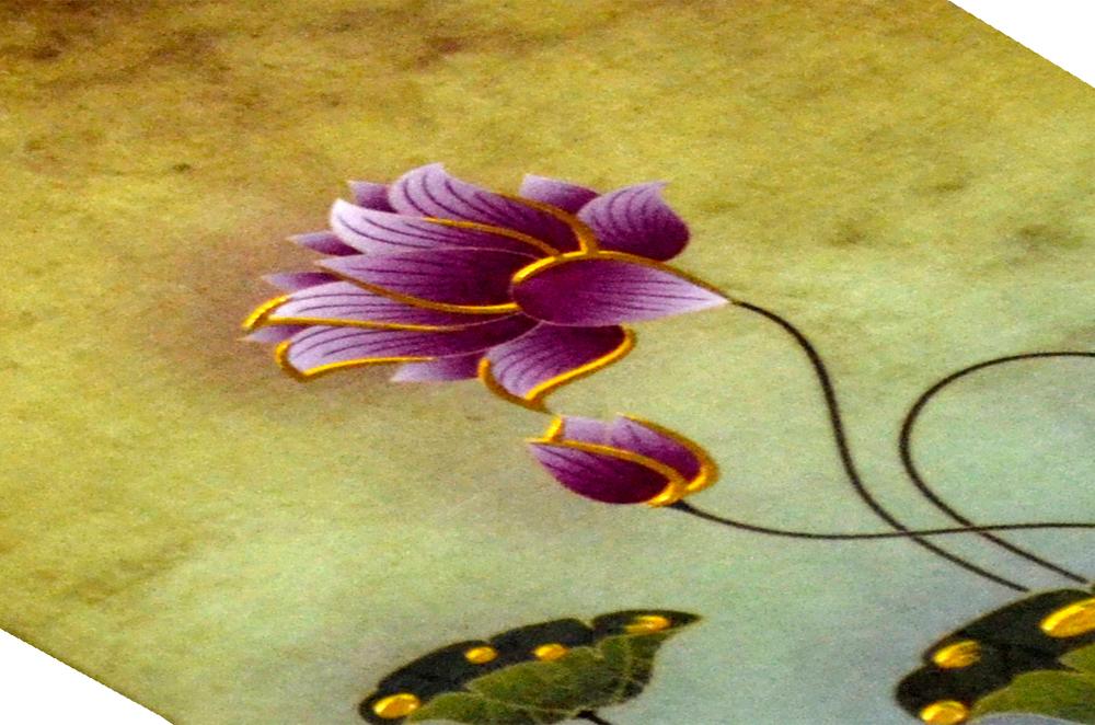 Lotus Theme Wedding Card PYL 4675 Zoom View