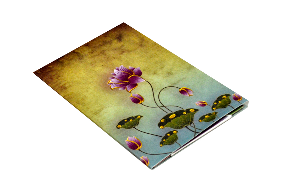 Lotus Theme Wedding Card PYL 4675 Card