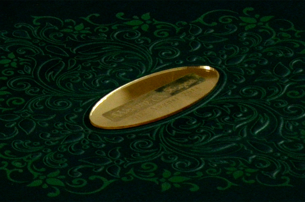 Padded Muslim Wedding Card PYL 5017 GREEN Zoom View