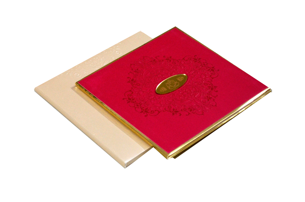 Padded Hindu Wedding Card PYL 5017