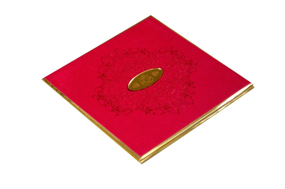 Padded Hindu Wedding Card PYL 5017 Card