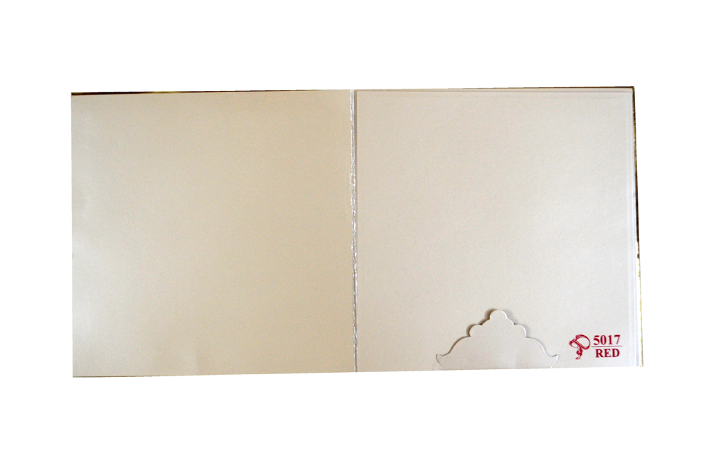 Padded Hindu Wedding Card PYL 5017 Top Inside View