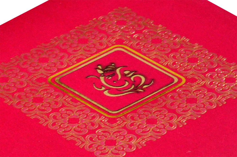 Hindu Wedding Card PYL 5033 Zoom View