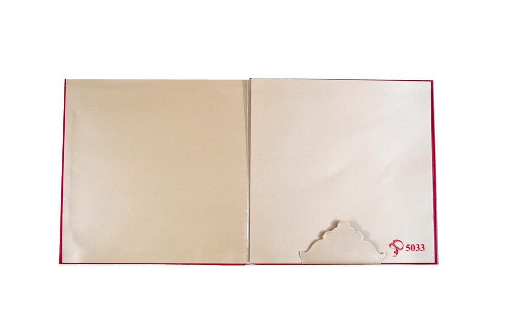 Hindu Wedding Card PYL 5033 Top Inside View