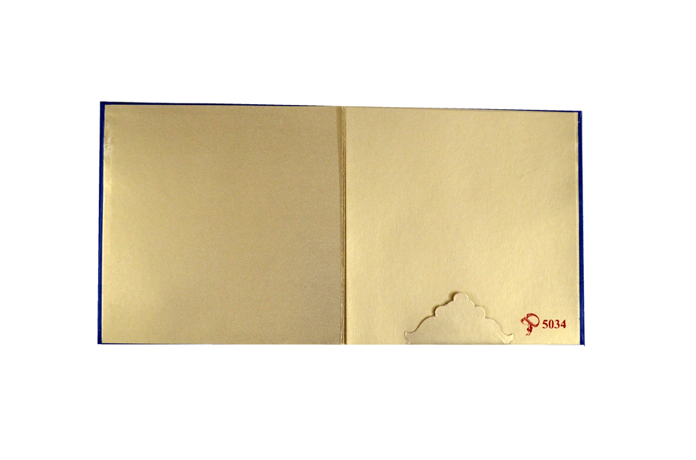 Hindu Wedding Card PYL 5034 Top Inside View