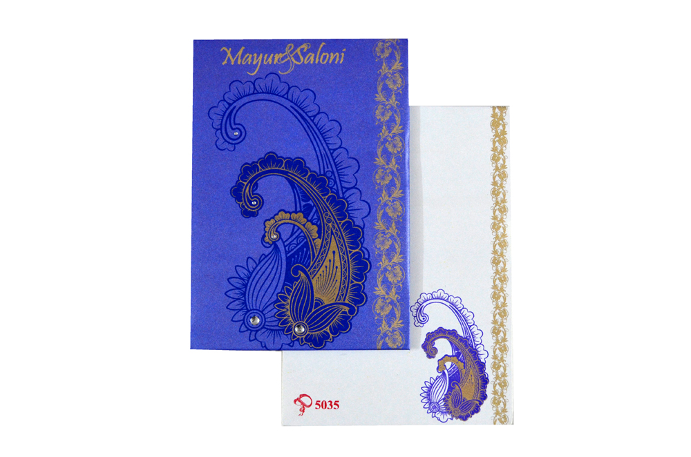 Designer Wedding Card PYL 5035 Top View