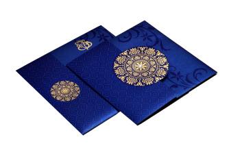 Designer Wedding Card RB 1141 BLUE