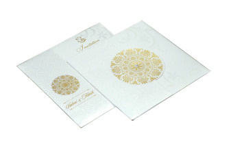 Designer Wedding Card RB 1141 WHITE
