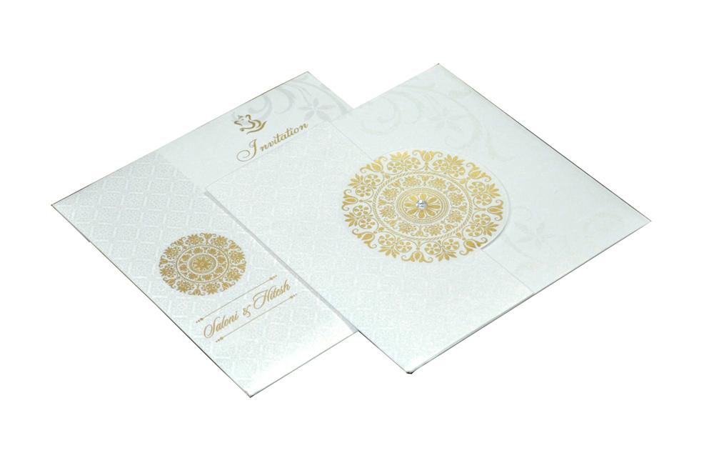 Designer Wedding Card RB 1141 WHITE