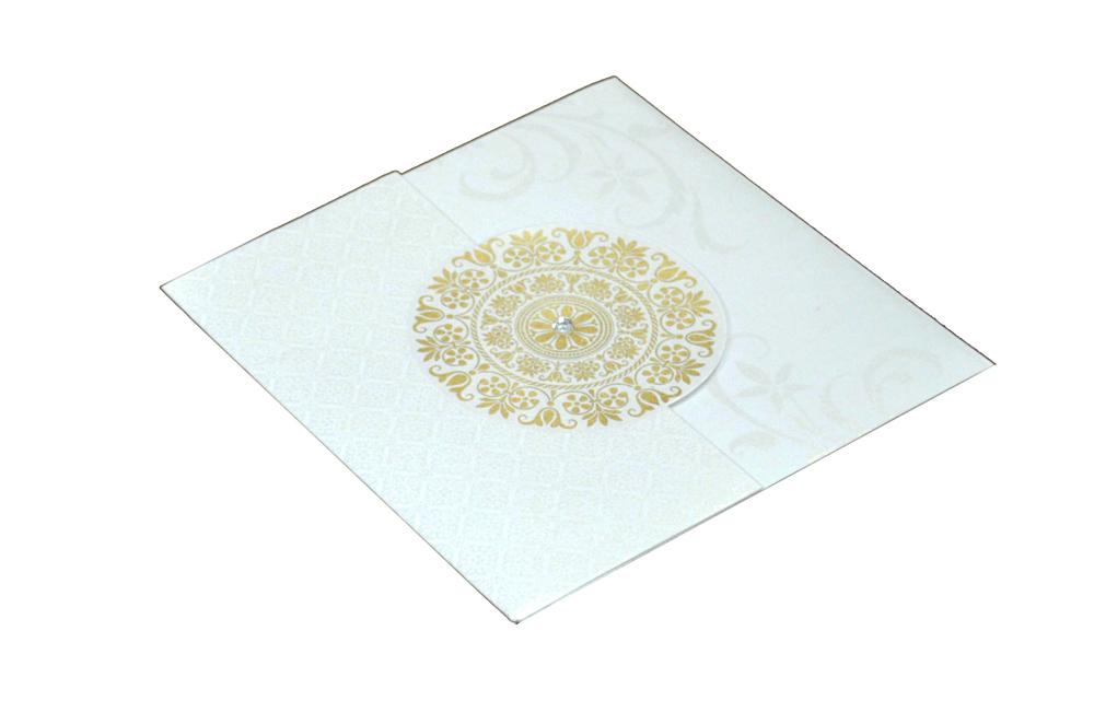 Designer Wedding Card RB 1141 WHITE Card