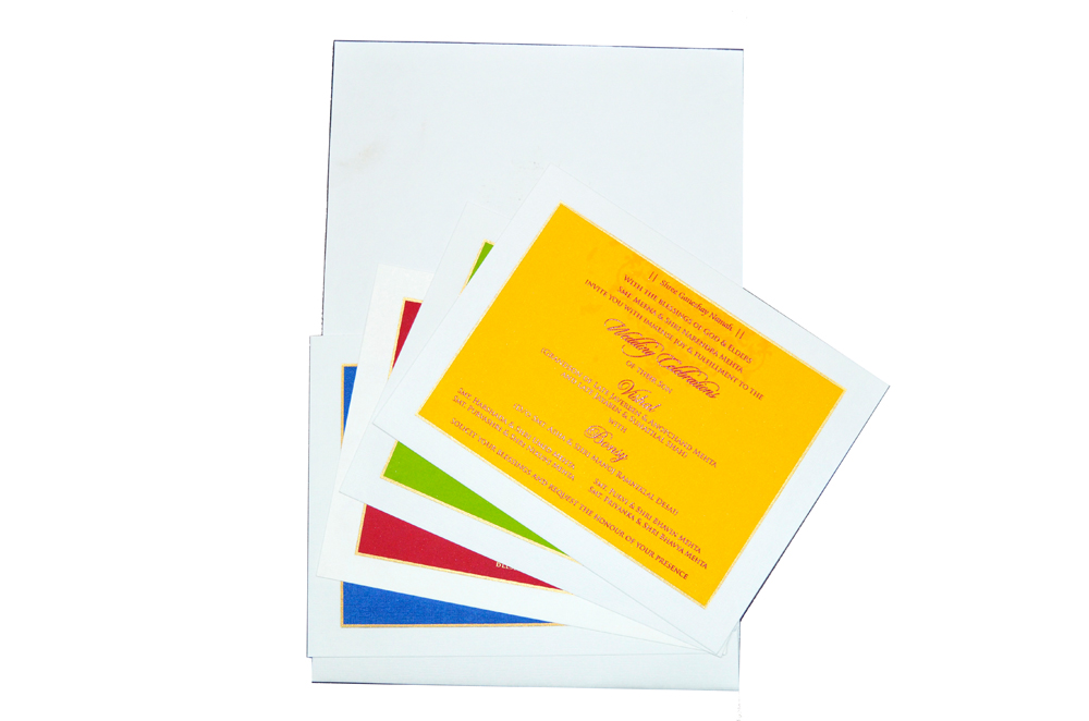Designer Wedding Card RB 1150 Top Inside View
