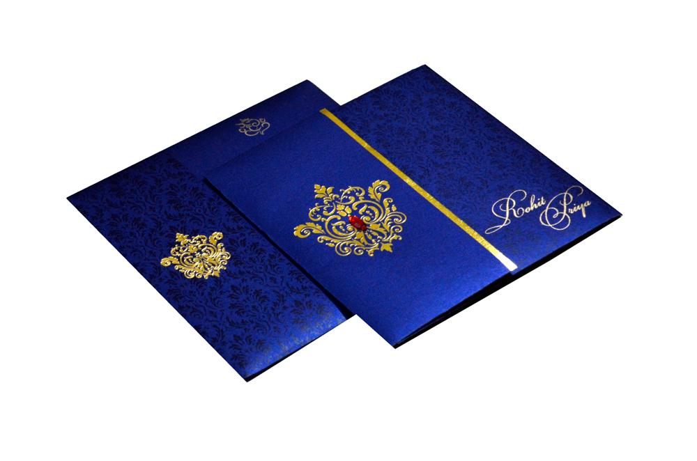 Designer Wedding Card RB 1208 BLUE