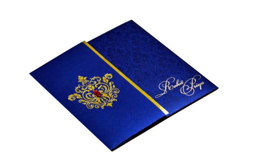 Designer Wedding Card RB 1208 BLUE Card