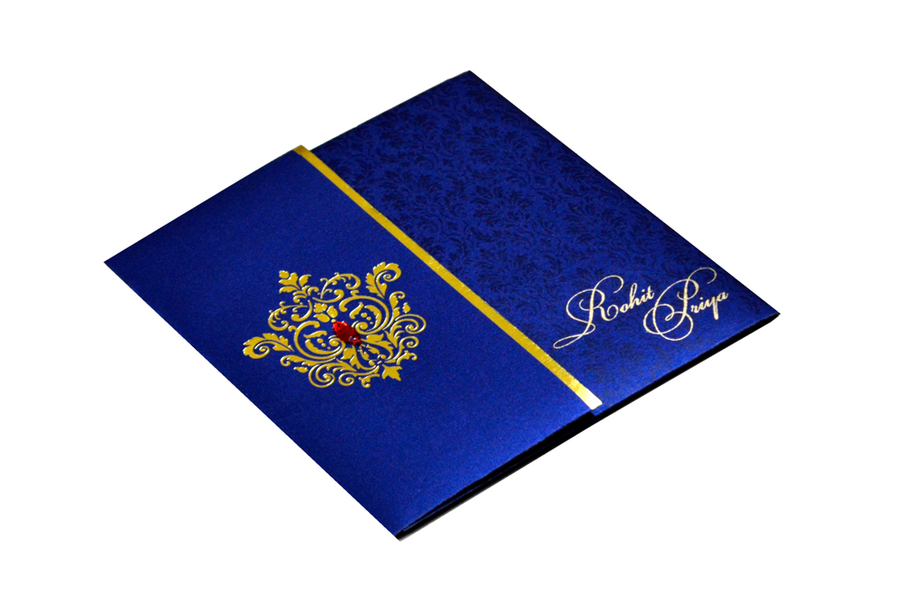 Designer Wedding Card RB 1208 BLUE Card
